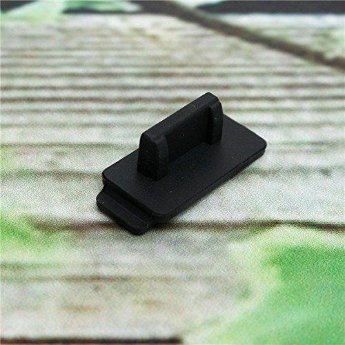 Doradus 10pcs silicium en caoutchouc noir de protection anti-poussière USB couvercle de la prise d'arrêt pour PC TV case ordinateur portable