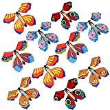 Conruich - 10 piezas de juguete mágico de mariposa voladora, creativo y colorido, para niños,