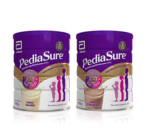 PediaSure Pack de 2 Complementos Alimenticios para Niños, Sabor Vainilla y Chocolate, con Proteínas, Vitaminas y Minerales - 850 gr