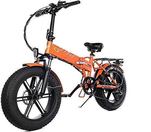 Electric Bike Electric Mountain Bike Electric Snow Bike, 500w Folding Electric Bike Adult Mountain E Bike with 48v12.5a Lithium Battery Electric Bicycle 7-speed Gear Shifts with Electric Lock Fast Bat