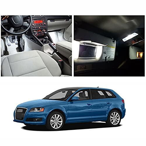 Bombillas LED Canbus Blancas sin Error, Juego de Luces de Puerta de Domo de Mapa Interior, para Audi A3 S3 RS3 8P Sportback de 4 Puertas (22 Piezas)
