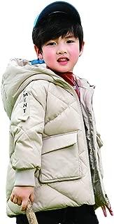 Korean Version of The Cute Baby Winter Down Jacket, 2019 New Boy Baby Small Children's Foreign Thickening Children's Jacket,White,130