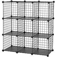 SONGMICS 9 Cubos Armario de almacenaje de Ropa Estantería por módulos 93 x 31 x 93 cm LPI115H