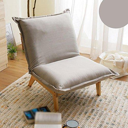 KSUNGB Canapé Lounger Individuel Chambre Pliable Chaise Longue Dortoir Chaise de Dossier de lit Petit canapé, Gray