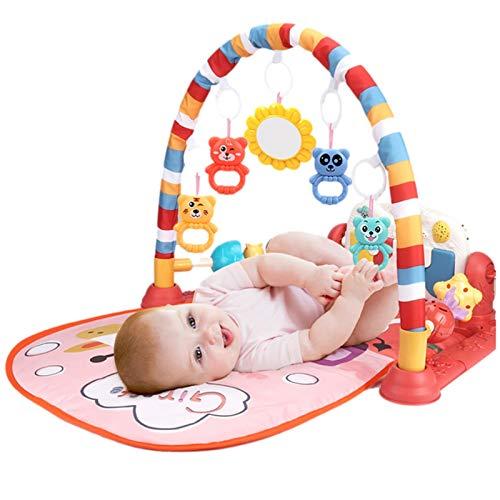 vincente Kick And Play Piano Gym, recién nacido Baby Play Mat con centro de actividad, música y luces, adecuado desde el nacimiento (azul, rosa)