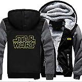 Suéter De Cremallera De La Chaqueta De Los Hombres - Star Wars Imprimir Suéter Casual Cardigan...