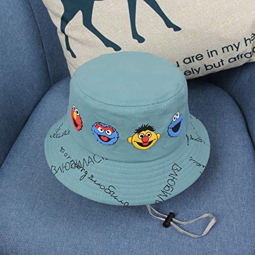 wtnhz Artículos de Moda Sombrero de Pescador para niños Primavera y otoño versión Coreana del Sombrero de Sol de Dibujos Animados de sésamo Sombrero de bebé para niñosRegalo de Vacaciones
