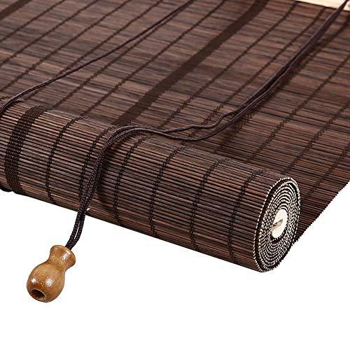 Stores enrouleurs Store enrouleur en bambou pour cloison de salon de thé, écran solaire avec terrasse occultante au jardin avec terrasse Gazebo, avec crochets, largeur de 75 à 140 cm