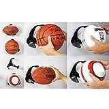 Emilyisky Plastic Ball Claw Soporte de Pared Soporte de Baloncesto Soporte de exhibición de fútbol Rack de Almacenamiento Negro