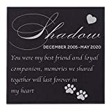 Pet Memorial Stone Personalized - Granite Cats and Dogs Grave Marker   6 x 6  Sympathy Poem, Loss of Dog Gift, Indoor - Outdoor Tombstone Headstone - Grave Marker w/Pet Name and Dates #1