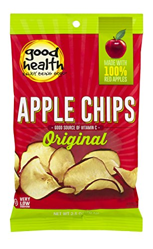 Good Health Natural Apple Chips, 3 Ounce -- 12 per case.