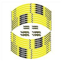 bazutiwns オートバイタイヤステッカーすべてのホンダVFRと互換性のあるインナーホイール反射装飾デカール HSLL (Color : 1)