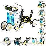 Qjuegad 13-in-1 Giocattolo Robot Solare per leducazione Kit, Giocattolo Robot Solare STEM Giocattolo educativo, per Bambini di età Compresa tra 8 e 12 Anni Robot Giocattolo