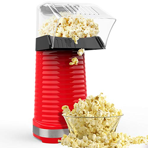 Save %6 Now! Hot Air Popcorn Maker, Popcorn Machine, 1200W Popcorn Popper with Measuring Cup and Rem...