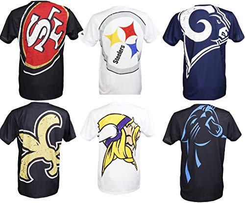New Era San Francisco 49ers T Shirt/Tee Big Logo Back Black - XL