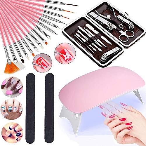 Kit de herramientas de acrílico para uñas profesionales que incluye 12 cortaúñas,...