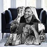 Bradley Cooper Manta súper suave, manta de cama de felpa, adecuada para adultos y niños para usar 80 x 60 pulgadas