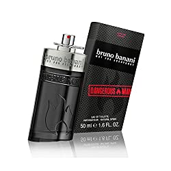 bruno banani Dangerous Man – Eau de Toilette Natural Spray – Unwiderstehlich-aufregendes Herren Parfüm – 1er Pack (1 x 50ml)