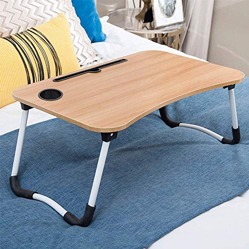 Ystle Foldable Computer Desk, Portable Notebook Stand, The Best Home Office Table, Child Study Desk Write Station, Bedroom Multifunction Desktop, Breakfast Read Tray for Couch Floor