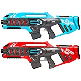 Best Choice Products Set of 2 Infrared Blaster Laser Tag Toys w/ Life Tracker, Backwards Compatible - Red/Blue