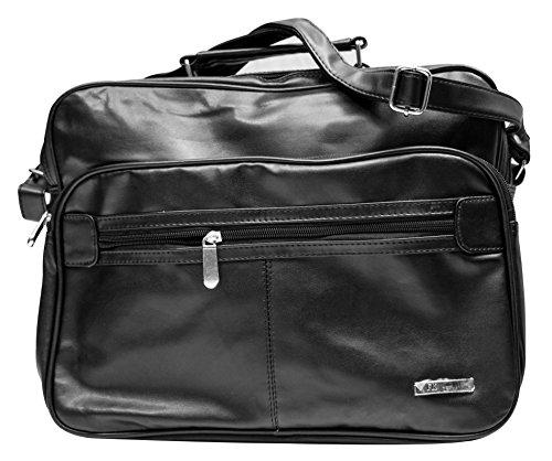 Herren Arbeitstasche Querformat Flugbegleiter - Handwerkertasche Schwarz Handwerker Tasche Umhängetasche Reisetasche Businesstasche Flugtasche Schultertasche