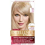 L'Oreal Paris Excellence Creme Permanent Hair Color, 9A Light Ash Blonde, 100 percent Gray Coverage Hair Dye, Pack of 1