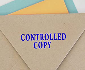 Controlled Copy Self Inking Rubber Stamp Custom Colop Office Stationary P20 Mini Stamper
