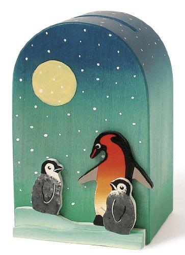 Weizenkorn Spardose Quader Pinguine