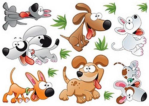 Enfants Stickers MURAUX Grand Disney Mickey Mouse Minnie Autocollants Filles Chambre DE Mur Chambre Decor Décoration Sticker Adhesif Mural Géant Répositionnable (Puppies, 70 x 50)