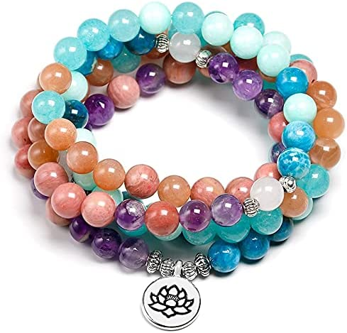 Tampa Mall ANSP88 - Discount mail order Natural Stone 108 Mala Buddha Multi-layer 8mm beads Str