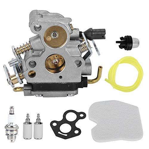 Zerodis Kit de carburador, 8 Piezas de Herramientas de Repuesto para Motosierra de Aluminio, 1 carburador, 7 Accesorios para Motosierra Husqva 235e 235236240 240e 574719402 545072601