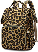 Leopard Printing Diaper Bag Large Capacity Waterproof Nursing Backpacks Nappy Bags for Mom