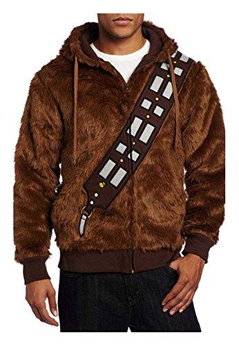 Kostor Chewbacca Pullover Star Wars Cosplay Kostüm XL Braun-b