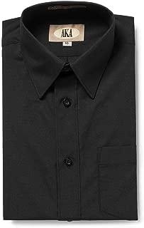 AKA Boys Solid Dress Shirt - Button Down Long Sleeve Wrinkle Free