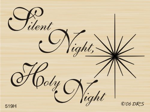 Silent Night with Jesus Star Rubber Stamp by DRS Designs