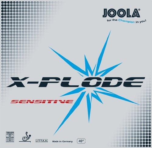 JOOLA X-Plode Sensitive - Goma para Tenis de Mesa, 70062, Rojo, 2-mm