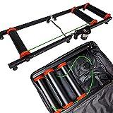 AccelaVelo Pro-X Indoor Bike Roller Trainer - Light & Strong Composite Frame - 5 Year Warranty