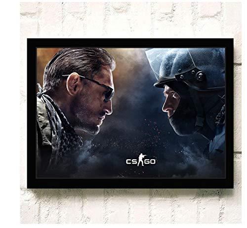 asfrata265 Leinwand Wandkunst Hd Beliebte Online-Spiele Csgo Poster Und Druck Leinwand Malerei Home Decor Wandbild Kein Rahmen G1119 (40X50Cm)