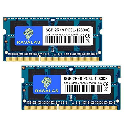 PC3L-12800 16GB ノートPC用メモリ DDR3L 1600MHz 8GB×2枚 SODIMM CL11 204Pin Non-ECC 電圧1.35V & 1.5V 両対応
