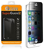 [2-Pack] for iPhone SE (1st Gen) / 5S / 5C / 5 - SuperGuardZ Privacy Anti-Spy Tempered Glass Screen Protector, 9H, 0.3mm, 2.5D Round Edge, Anti-Scratch, Anti-Bubble