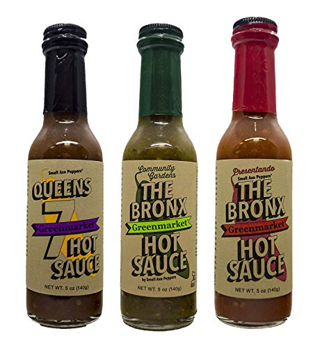 Small Axe Peppers The Bronx Greenmarket Hot Sauce, Variety 3 Pack - All Natural, Vegan, Made in the USA, non-GMO, Community Garden Grown, Featured on Hot Ones!