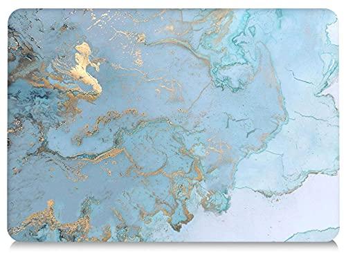 AQYLQ Funda Dura para Macbook Retina de 12 Pulgadas (A1534) - Ultra Delgado Carcasa Rígida Protector de Plástico Acabado Mate Cubierta, DL 41 -Mármol Azul