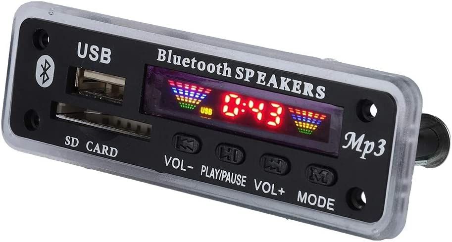 4 Colors Screen Audio Module USB AUX SD FM Radio Lossless MP3 FM APE FLAC Black Elprico DC 5V//12V Wireless 5.0 Audio Decoder Board Colors Screen Display