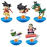Cosstob Figuarts-Anime Set de Estilo Hecho a Mano Vuelo Giratorio 1 generación / 2 generación 5 Goku Tumbler Box Egg Toy-1 generación de 5 Vasos Goku
