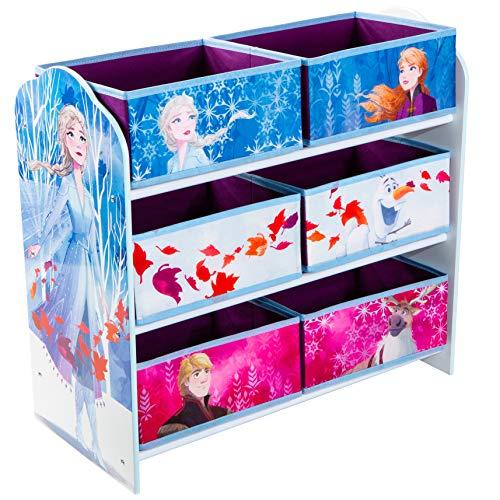 Disney Estantería para Guardar Juguetes con Seis Cajas para niños, Madera contrachapada, Multicolor, (Annäherungswerte): 63,5cm (B)x 60cm (H)x 30cm (T)