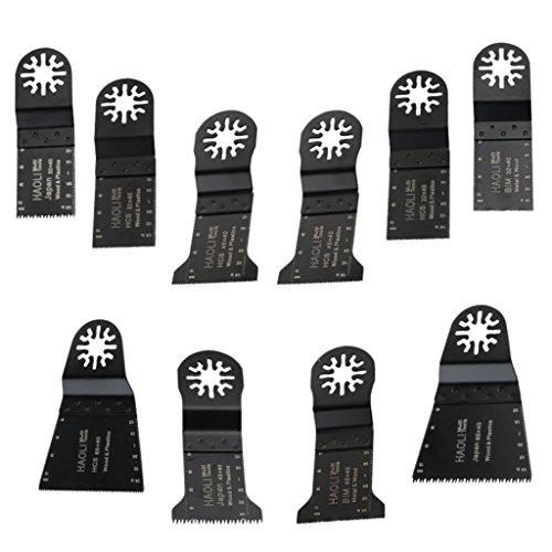 Amuzocity 10 Piezas de Cuchillas Oscilantes de Herramienta Eléctrica para Accesorios de Cortador Multiherramienta