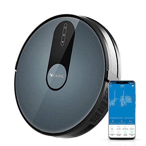 proscenic Robot Aspirador Neo 820S Control de App y Alexa con MAX 1800Pa, Gran depósito de Polvo 600ML, Limpieza Inteligente para Suelos y Alfombra