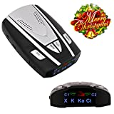 Radar Detector - D7 High Performance Laser Radar Detector with LED Display- Laser Eye Provides 360-Degree Detection of Signals (Black one)