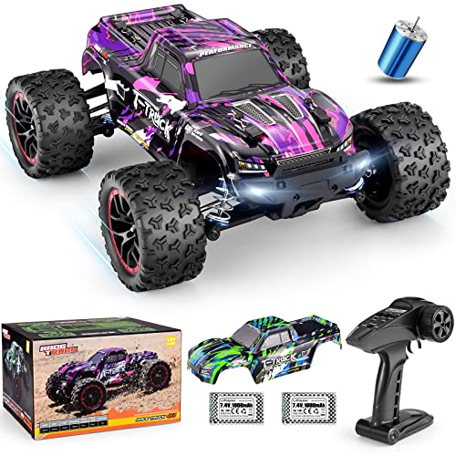 HAIBOXING 1/18 Scale Brushless Fast RC Cars 18859A, 4WD Off-Road Remote Control Trucks 48 KM/H Speed for Adults and Kids Boys, All Terrain Truck Toys Gifts with Extra Shell and Battery 40+ min Play