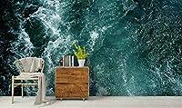 xueshao 3D海の波自己粘着性の取り外し可能な壁紙壁画